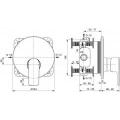 Ideal Standard Sprchová podomítková baterie, chrom A7034AA