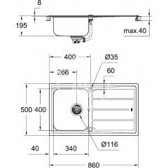 Grohe Set dřezu K500 a baterie Minta 31573SD0