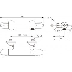 Ideal Standard Termostatická sprchová baterie, chrom A6413AA