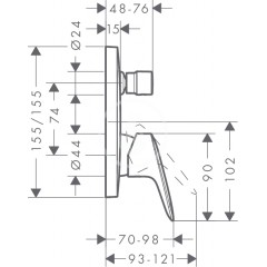 Hansgrohe Vanová baterie pod omítku, chrom 71405000