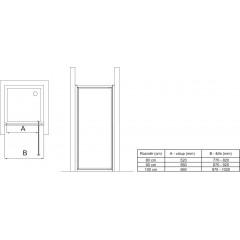 Ideal Standard Pevná boční stěna 80 cm, matné sklo, silver bright (lesklá stříbrná) T9918EO