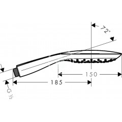 Hansgrohe Sprchová hlavice 150 Air, 3 proudy, bílá/chrom 28557400