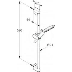 Kludi Set sprchové hlavice, hadice a tyče 600 mm, chrom 6783005-00