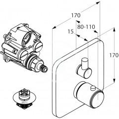 Kludi Termostatická vanová baterie pod omítku, chrom 498300575