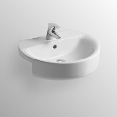 Ideal Standard Umyvadlo polozápustné 550 x 170 x 465 mm, bílá s Ideal plus E7923MA