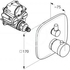 Kludi Termostatická vanová baterie pod omítku, chrom 538300575