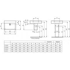 Ideal Standard Umyvadlo Cube, 700x460x175 mm, s Ideal Plus, bílá E8107MA