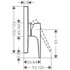 Hansgrohe Sprchová baterie pod omítku, chrom 32565000