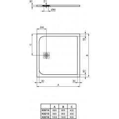Ideal Standard Sprchová vanička 1000 x 1000 mm, písková K8216FT