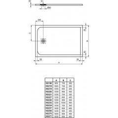 Ideal Standard Ultra Flat S Sprchová vanička 1000 x 800 mm, betonově šedá K8219FS