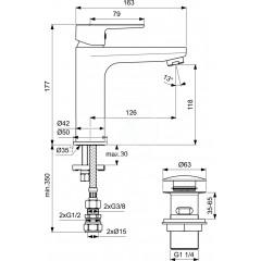 Ideal Standard Umyvadlová baterie s CLICK výpustí, bílá/chrom BC202HO
