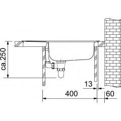 Franke Kuchyňský set N32, nerezový dřez ETN 611-58 + baterie FB 250.031, chrom 101.0283.215
