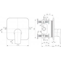 Ideal Standard Sprchová baterie pod omítku, chrom A6585AA