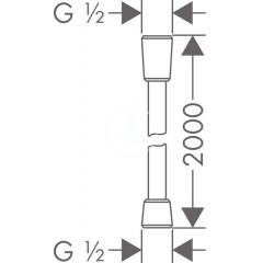 Hansgrohe Sprchová hadice Comfortflex 2000 mm, chrom 28169000