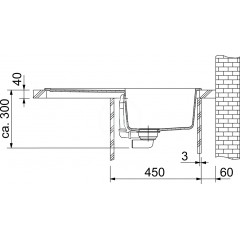 Franke Tectonitový dřez OID 611-78, 780x500 mm, černá 114.0288.588