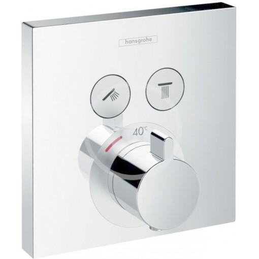 Hansgrohe Termostatická baterie pod omítku, pro 2 výstupy, chrom 15763000