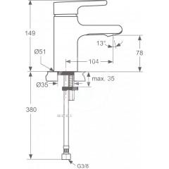 Ideal Standard Umyvadlová baterie Piccolo, chrom A4761AA
