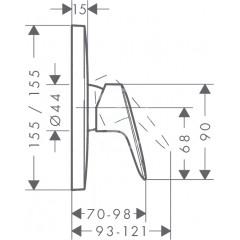 Hansgrohe Sprchová baterie pod omítku, chrom 71605000