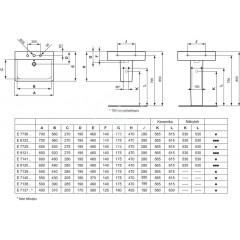 Ideal Standard Umyvadlo Cube, 550x460x175 mm, 1 otvor pro baterii, bílá E713901
