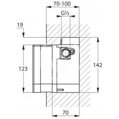 Kludi Podomítkové elektronické těleso 38001