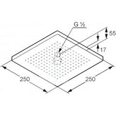 Kludi Hlavová sprcha 250x250 mm, chrom 6653105-00