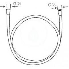 Kludi Sprchová hadice Logoflex, 1600 mm, chrom 6105605-00