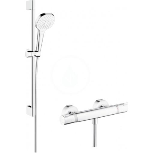 Hansgrohe Sprchový set Vario s termostatem, 3 proudy, sprchová tyč 650 mm, bílá/chrom 27081400