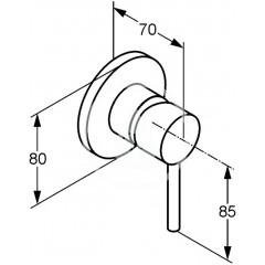 Kludi Sprchová baterie pod omítku, chrom 389250576