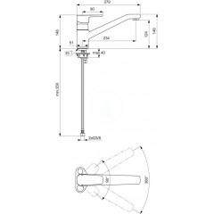 Ideal Standard Páková dřezová baterie, chrom B0722AA