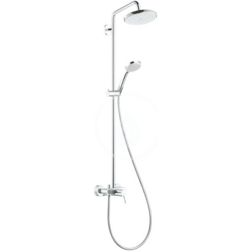Hansgrohe Sprchový set Showerpipe 220 s baterií, 1 proud, chrom 27222000