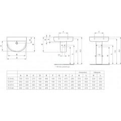 Ideal Standard Umyvadlo 600 x 175 x 460 mm (bez otvoru pro baterii, s přepadem), bílá E811401