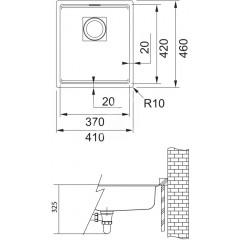 Franke Fragranitový dřez KNG 110-37, 410x460 mm, onyx 125.0512.449