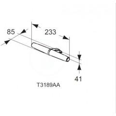 Ideal Standard LED svítidlo Eva 233x85x41 mm, 6W, chrom T3189AA