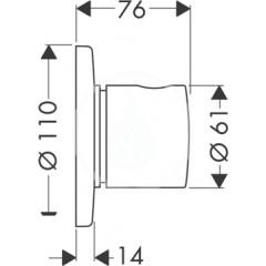 Hansgrohe Uzavírací a přepínací ventil pod omítku, chrom 15932000