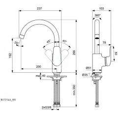 Ideal Standard Dřezová baterie, chrom B1727AA