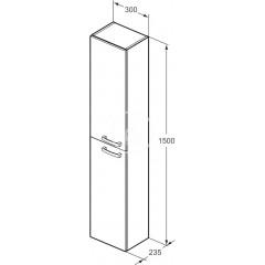 Ideal Standard Vysoká skříňka 300x235x1500 mm, lesklá bílá E3243WG
