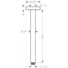 Hansgrohe Sprchové rameno, 300 mm, chrom 27388000