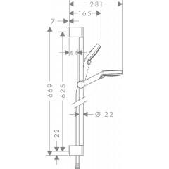 Hansgrohe Sprchová souprava Vario, 100 mm, 2 proudy, bílá/chrom 26532400