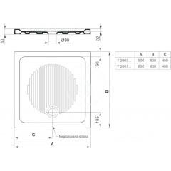 Ideal Standard Keramická sprchová vanička 900x900 mm, bílá T266301