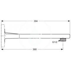 Ideal Standard Sprchové rameno 370 mm, chrom A1524AA