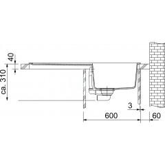 Franke Fragranitový dřez BFG 611, 970x500 mm, grafit 114.0285.302