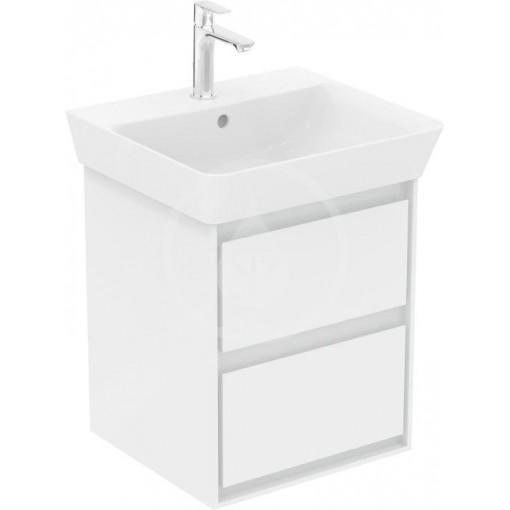 Ideal Standard Skříňka pod umyvadlo CUBE 500 mm, lesklý bílý/matný světle šedý lak E1608KN
