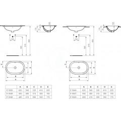 Ideal Standard Umyvadlo pod desku oválné 480 x 175 x 350 mm, bílá E504601