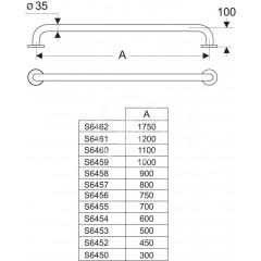 Ideal Standard Opěrné madlo 450 mm, nerezová ocel S6452MY