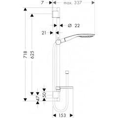 Hansgrohe Sprchová souprava 150, 3 proudy, bílá/chrom 27856400