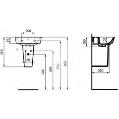 Ideal Standard Polosloup 340x260x170 mm, bílá E034501