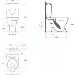 Ideal Standard WC sedátko, bílá W300201