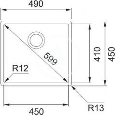 Franke Dřez BXX 210/110-45, 490x450 mm, nerez 127.0395.014