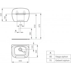 Ideal Standard Výlevka Duoro, 445 x 340 x 345 mm, bílá R380601