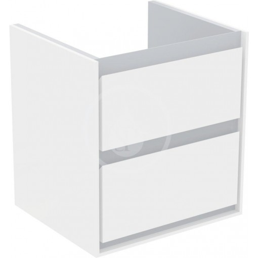 Ideal Standard Skříňka pod umyvadlo CUBE 550 mm, lesklý bílý/matný světle šedý lak E1607KN